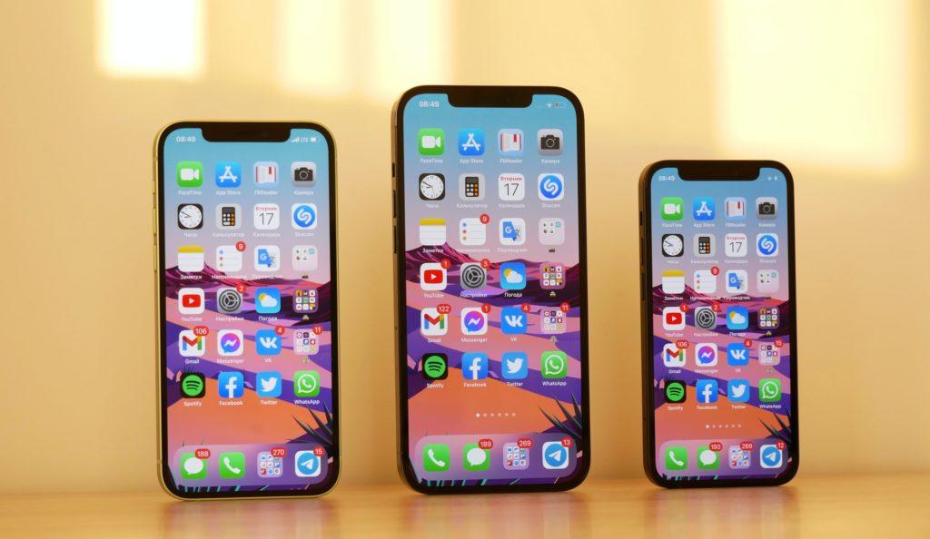 Telas do iPhone 12
