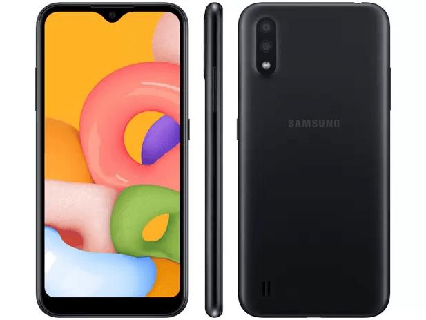 Casas Bahia Smartphone Samsung Galaxy A01 Preto 32GB