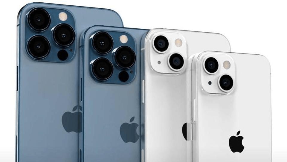 A sequência dos novos iPhone 13. iPhone 13, Mini, Pro e Pro Max.